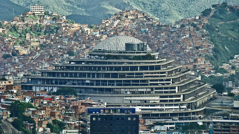 Illustration for article titled Venezuela's Secret Police Operate Out of This Super-Villain Lair