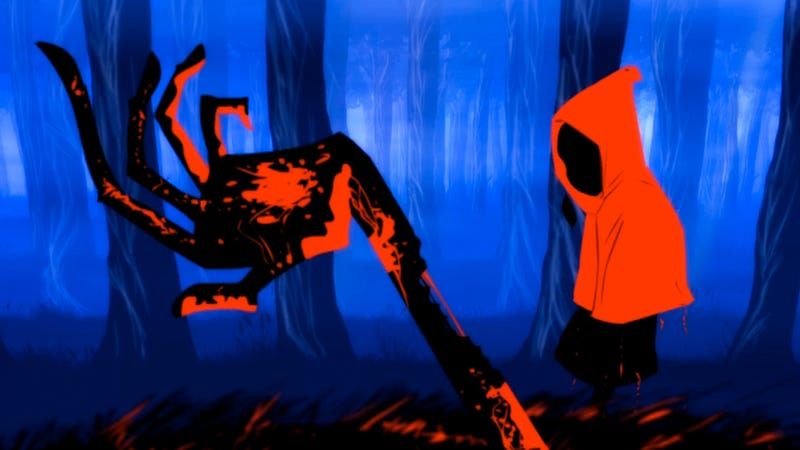 Illustration for article titled This Animated Retelling of Little Red Riding Hood Is Bloody, Macabre and Awesome