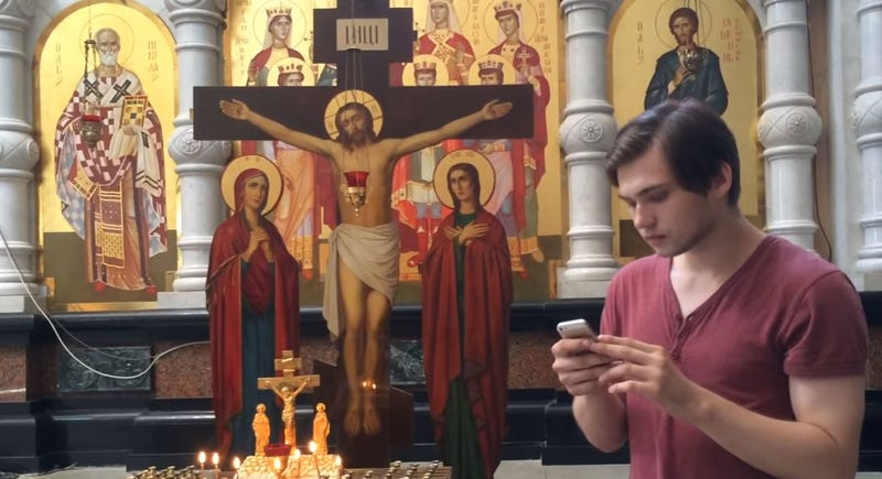 Illustration for article titled Russian Man Facing Prison For Making Pokémon Go Video Inside A Church