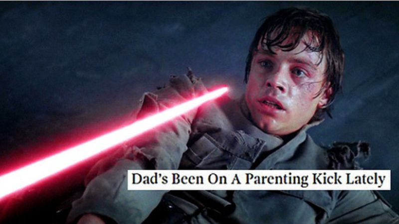 Illustration for article titled Star Wars screenshots improved, clarified by Onion headlines