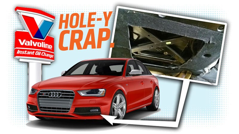 Lazy Idiots At Lube Shop Cut Hole In Audi S4 S Aero Pan Instead Of