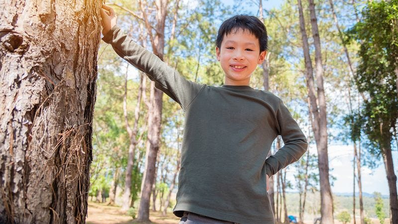 A kid at camp.