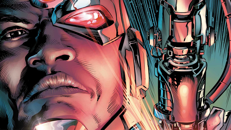 Cyborg: Rebirth #1 cover art by Will Conrad and Ivan Nunes.