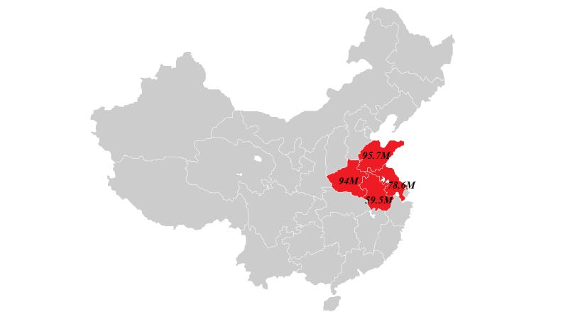 The Entire US Population Fits In These Chinese Provinces So What - Us china map