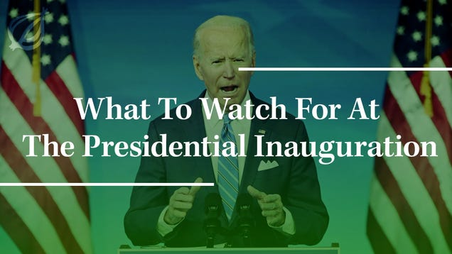 What To Watch For At The Presidential Inauguration