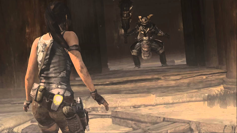 Lara faces a giant samurai demon zombie, a.k.a. just another Tuesday in the life of Ms. Croft.