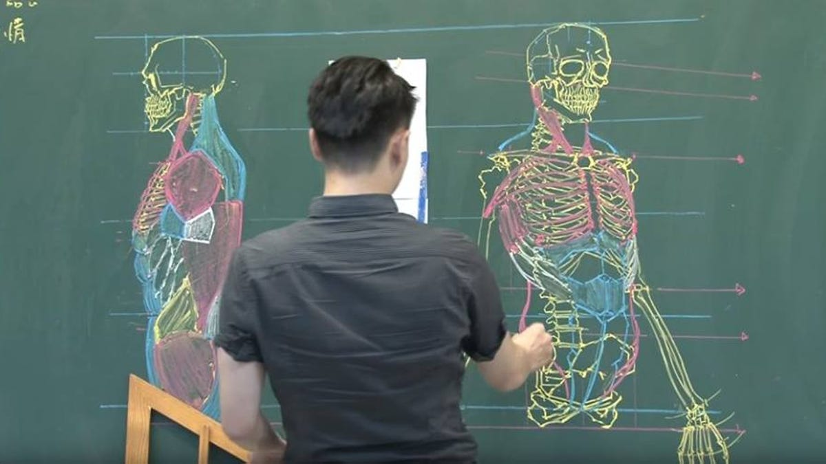 Teaching Human Anatomy With Chalkboard Art