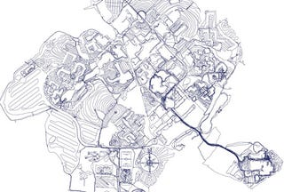 Illustration for article titled GPS Map Made With One Really, Really Long Walk