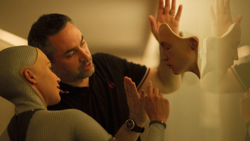 """Illustration for article titled Ex Machina's Alex Garland talks robots and why the auteur theory is """"bullshit"""""""