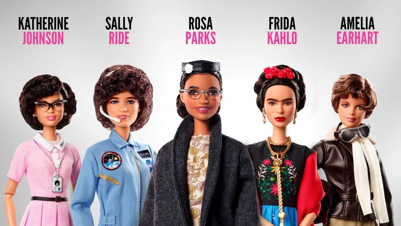 Image result for rosa parks sally ride dolls