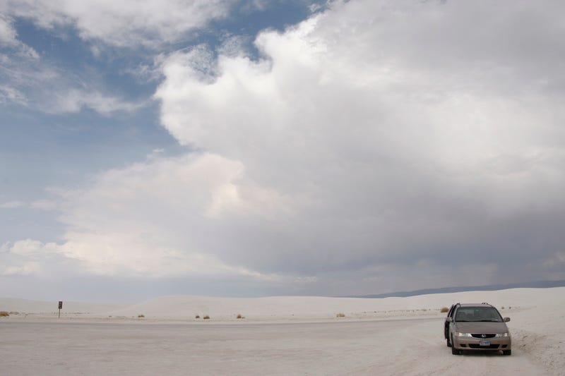 The family truckster at White Sands back in 2013