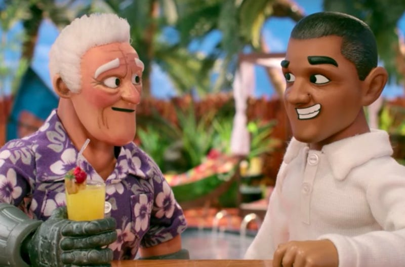 Illustration for article titled SuperMansion is also nostalgic for former president Barack Obama in this exclusive clip