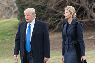 Donald Trump and daughter Ivanka Trump (Nicholas Kamm/AFP/Getty Images)