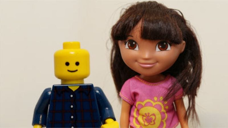 Illustration for article titled Lego Man and Dora the Explorer