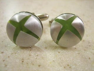 Illustration for article titled Xbox Cufflinks Almost Justify Dressing Up...Almost