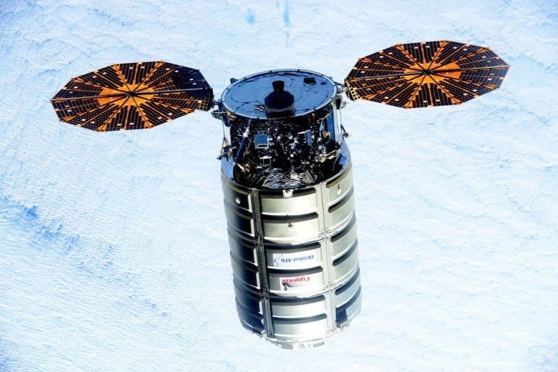 Una cápsula Cygnus. Imagen: NASA