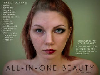 Photoshop Parody Ads Show the Depressing Truth About Filtered Beauty