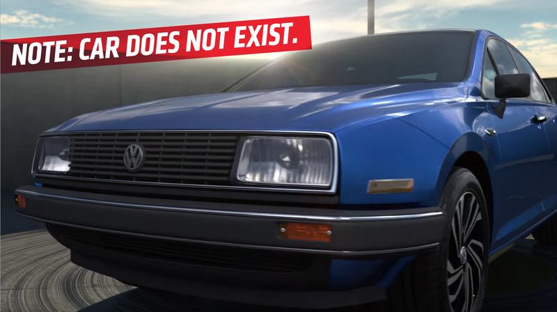 Illustration for article titled Volkswagen's New Commercial For The Jetta Inadvertently Shows Fictional More Exciting Jettas