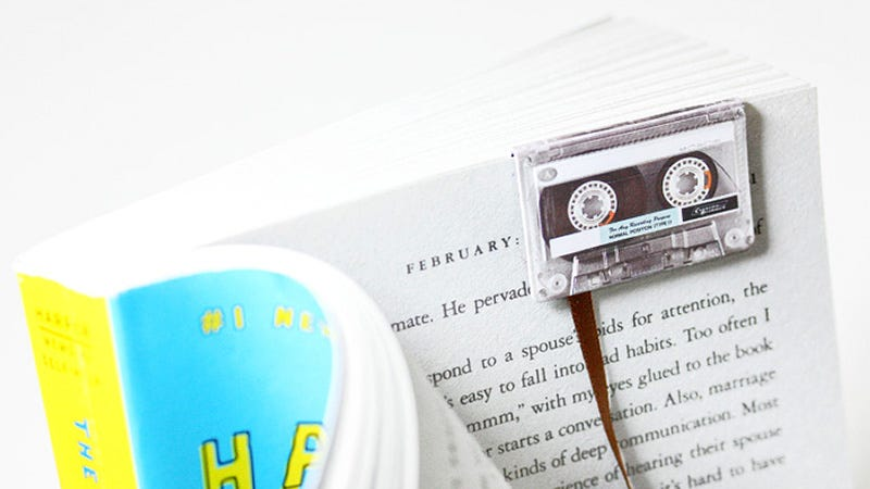 Illustration for article titled Cassette Tape Bookmarks Adorably Pair Two Dead Forms of Media