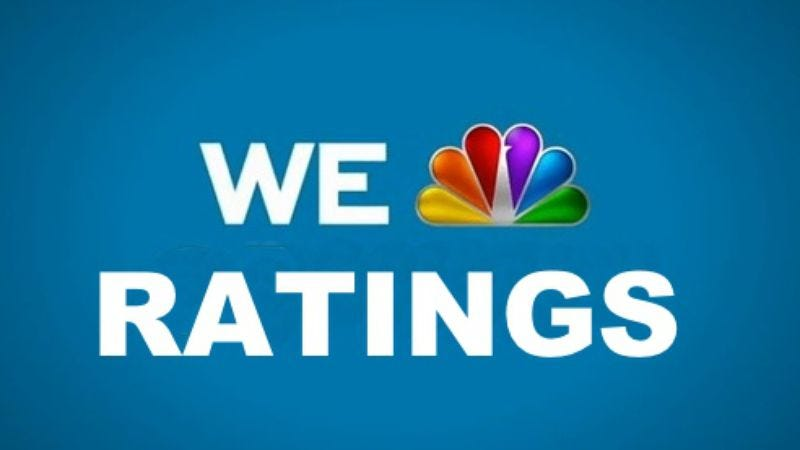 Illustration for article titled NBC officially no longer the worst