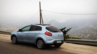 The Fiat Bravo on twisty Mountain road