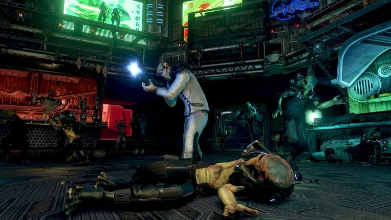 A screenshot of the never-released Prey 2
