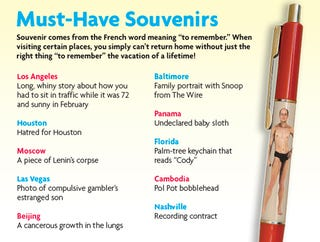 Illustration for article titled Must-Have Souvenirs