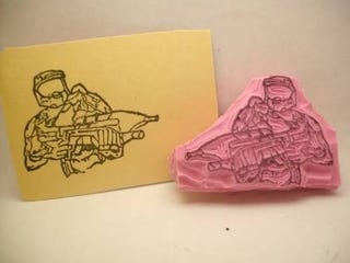 Illustration for article titled Hand-Carved Halo Stamp Has Master Chief Seal of Approval