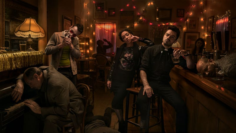 Joe Gilgun, Ruth Negga, and Dominic Cooper are back for Preacher season 2. All Images: AMC