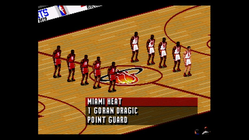 Illustration for article titled The Outcome Of Tonight's Raptors-Heat Game, As Predicted By NBA Live '96