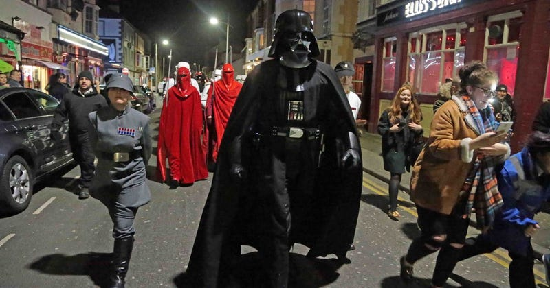 Not Wrexham! Vader takes over Rhyl for the night.