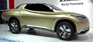 Illustration for article titled Mitsubishi Promises Sleek, Efficient Next-Gen Pickup Truck This Fall