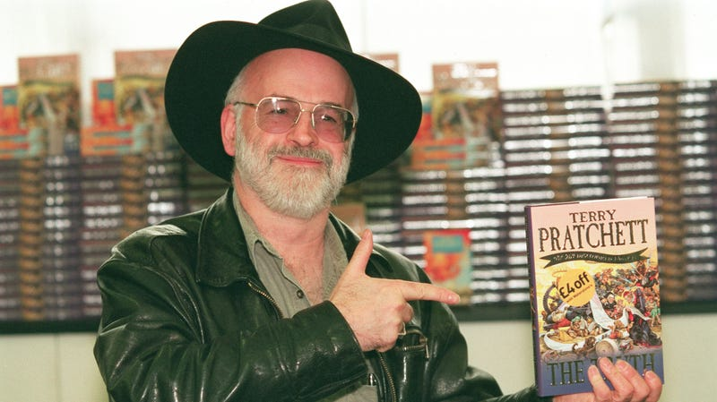 """Terry Pratchett, the very cool (but not exactly """"punk rock"""") late author of the Discworld books."""