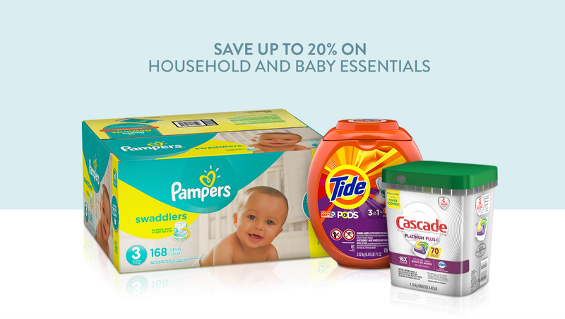 20% Off Household and Baby Essentials | Amazon
