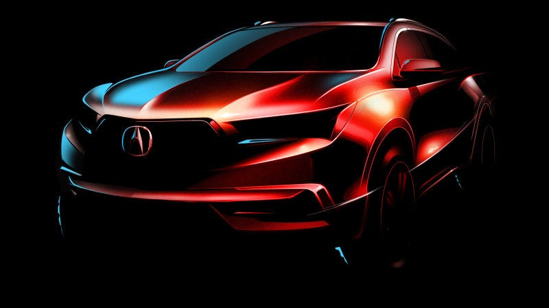 Illustration for article titled 2017 Acura MDX: Looks Like Acura Is Finally Going To Kill That Damn Shield