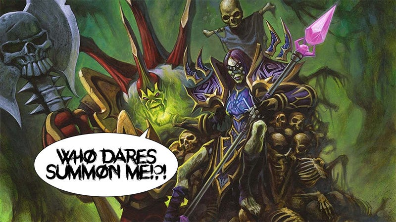 Illustration for article titled World Of Warcraft Demon Knows Damn Well Who Summoned It