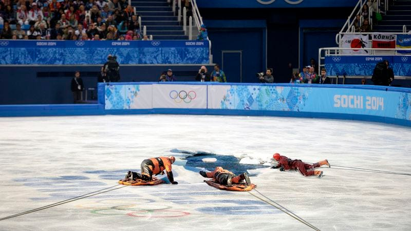 Illustration for article titled Emergency Crews Attempt To Rescue Olympic Figure Skater Who Fell Through Ice