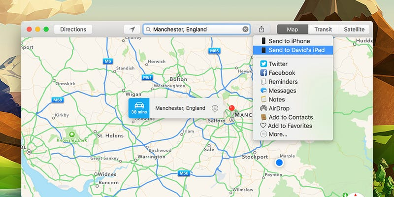 Send Maps From Your Desktop To Your Mobile Device - Send us map
