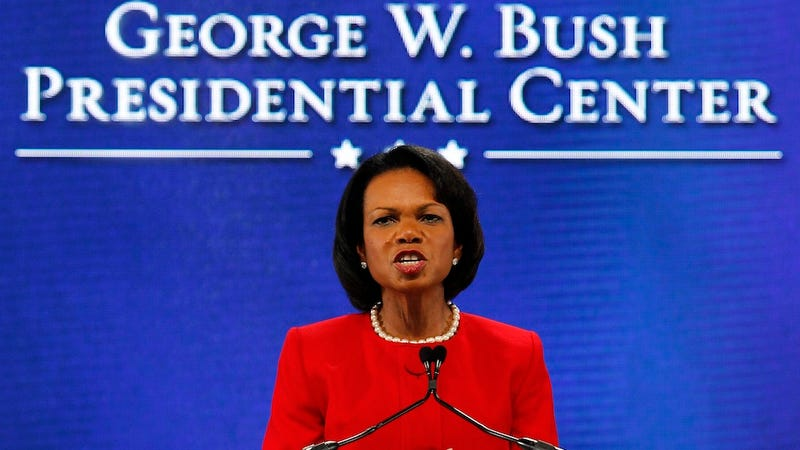 Illustration for article titled Condi Rice Supports Romney Because Obama Doesn't Think America Is Awesome Enough