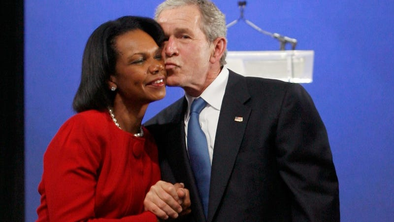 Illustration for article titled Crafty Republicans Want Mitt Romney to Pick Condi Rice as His Running Mate
