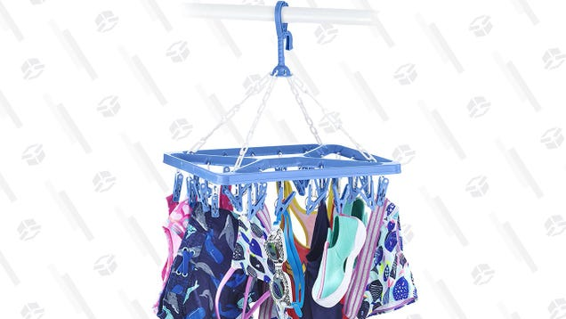 If You Rarely Bother to Air Dry Clothes, Spend $10 On This Hanging Rack