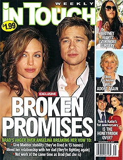Illustration for article titled Angelina Breaks Promises; Britney Has Secrets, Everyone Wants To Lose Weight