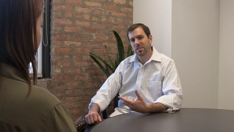 Illustration for article titled Man Really Letting No One Have It During Exit Interview