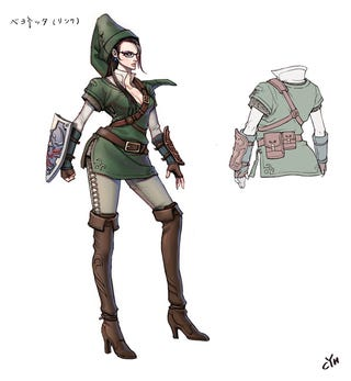 Illustration for article titled Female Link Concept Art Leaked (THIS IS OFFENSIVE, WII U, EXPOSED)