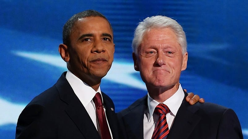 Illustration for article titled Bill Clinton May Have 'No Idea' If Hillary Will Run for President, but He Now Has a 'Bromance' with Barack Obama