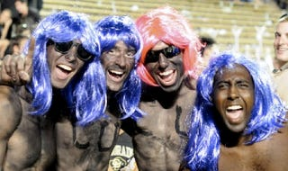 Illustration for article titled U of Colorado Debates Whether It's Racist For Fans To Paint Their Faces Black