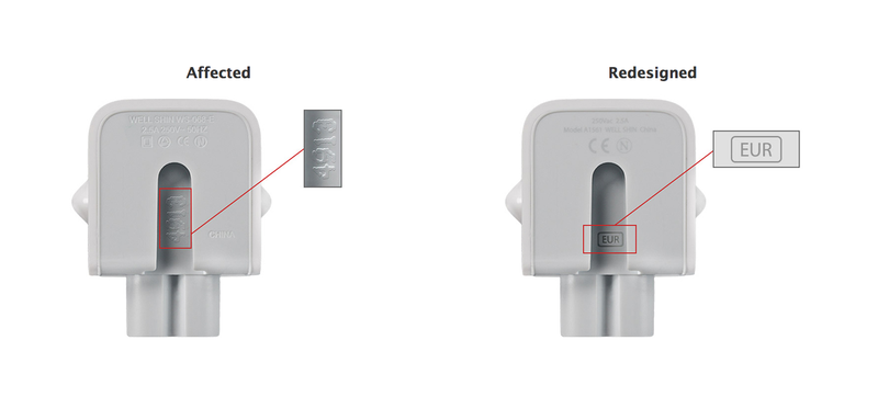 Illustration for article titled Apple Recalls Power Adapters That Might Zap You
