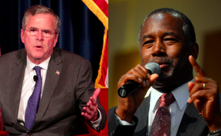 GOP presidential hopefuls Jeb Bush and Ben CarsonJonathan Alcorn/Getty Images; Darren McCollester/Getty Images