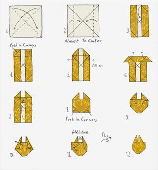 Illustration for article titled How To: Origami Millennium Falcon