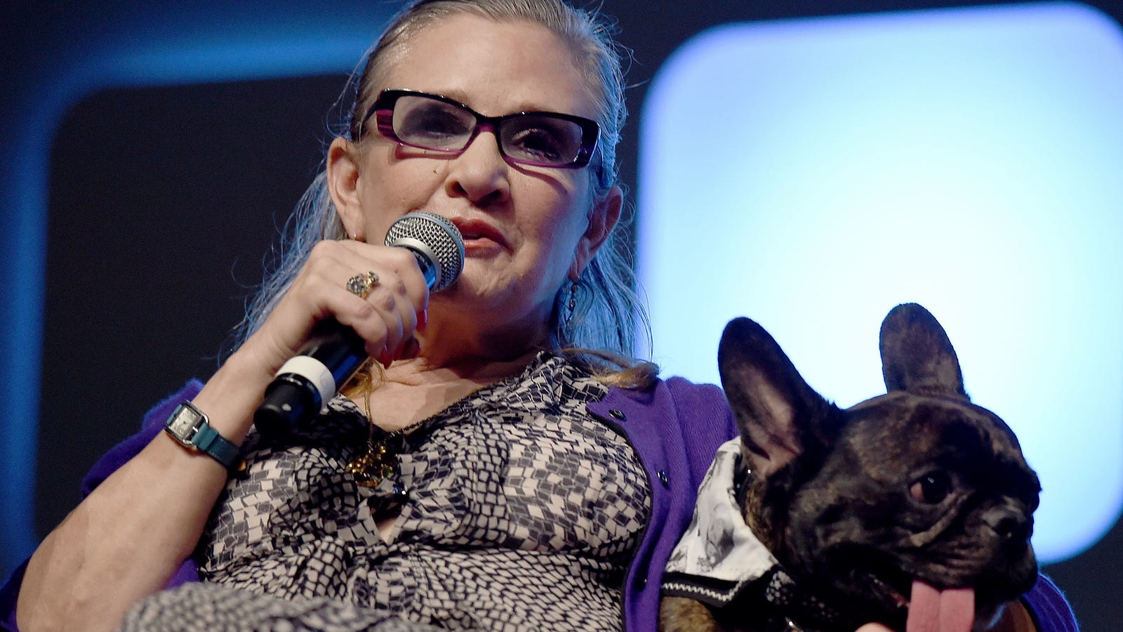 Carrie Fisher's Dog Got Emotional Seeing Her Onscreen During The Last Jedi